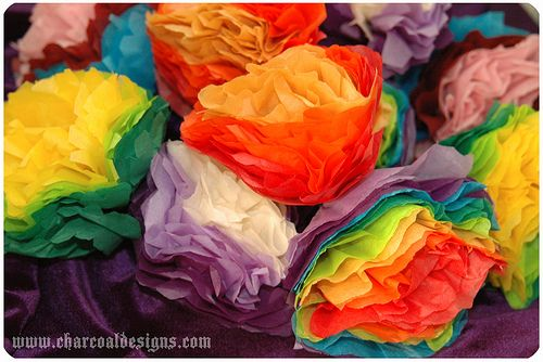 Paper flowers, 1980s.