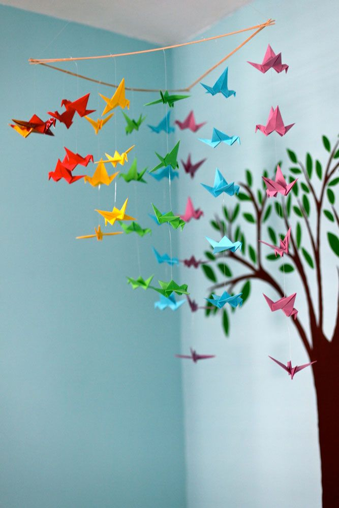 Best 25 Paper Crane Mobile Ideas On Pinterest Origami