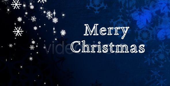 Falling Snow - Christmas Greeting Card (CH25)
