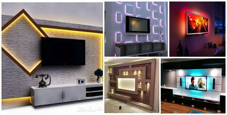 12 Capricious TV Wall Units With Led Lighting That You Must See Right Now!