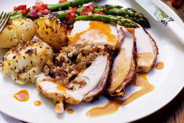 Time to start thinking about the Christmas Turkey, check out this delicious recipe with fig and pecan stuffing.