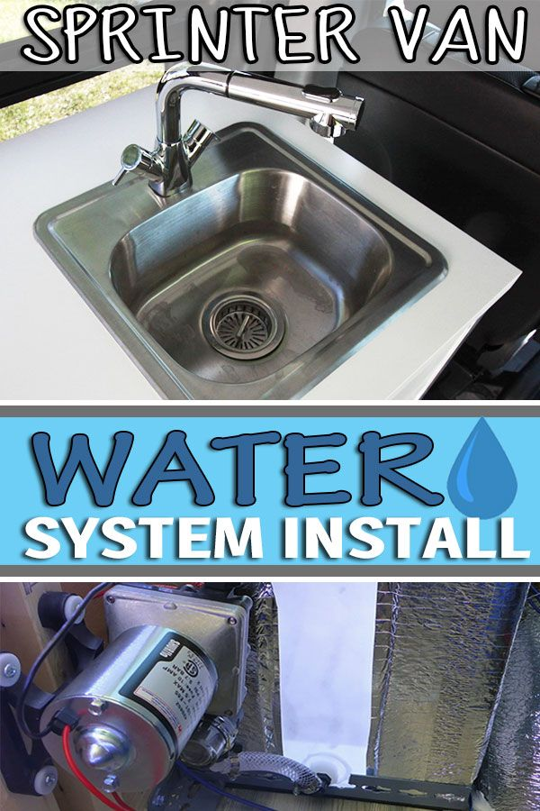 Diy Water System Install Water Tank Pump Sink And Indoor Outdoor Showers Water Systems Campervan Sprinter