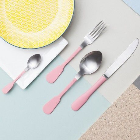 4-Pc. Cutlery Set - Pink - by Bitossi Home designed in Italy #MONOQI