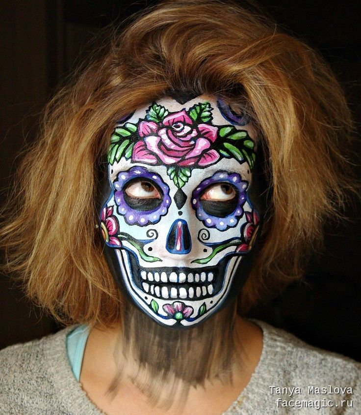 Sugar skull. Face paint by Tanya Maslova.