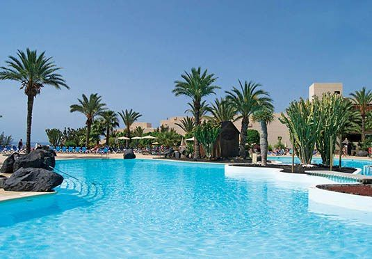 Three, five or seven nights in an all-inclusive beach resort on Lanzarote's Costa Teguise, with flights and transfers