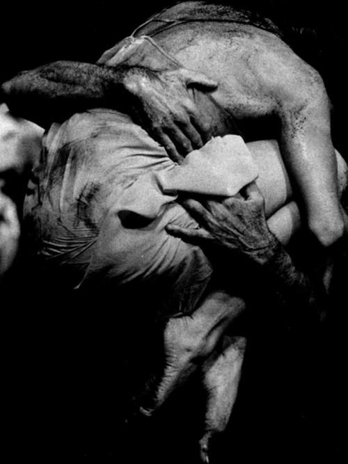 bandonéon, pina bausch, 1980: [The repetition and sense of fulcrum in this piece is an influence in filming HOLE with a single dancer in a the Dublin docklands.]
