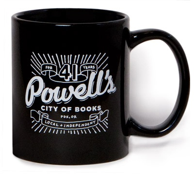 Enjoy your favorite beverage from a Powell's 41st Anniversary Mug!