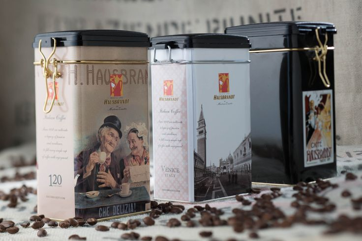 Caffè macinato Hausbrandt in latta - 100% Arabica roasted ground coffee packed in tin