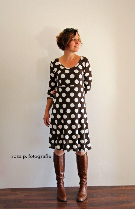 """polka dots!  kleid: schnitt aus meinem buch """"ein schnitt-vier styles"""""""