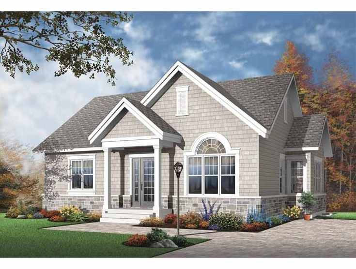 Eplans European House Plan - Two Bedroom European - 1068 Square Feet and 2 Bedrooms from Eplans - House Plan Code HWEPL65246