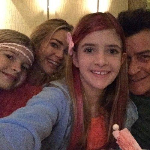 Denise Richards & Charlie Sheen's Family Selfie