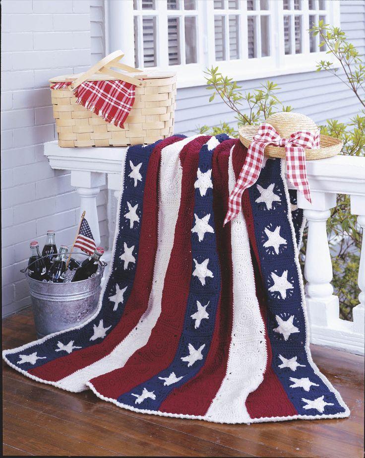American Flag Crochet Afghan Pattern Choice Image Knitting
