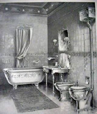 1899 bathroom illustration, J.L. Mott Iron Works