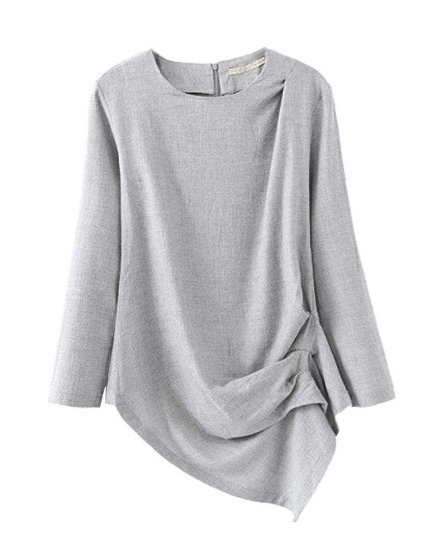 Side Fold Long Sleeves T-shirt