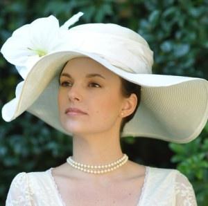 Wide Brimmed Wedding Hat!