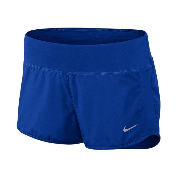 Women's Nike Crew 3 Inch Running Shorts ($35) ❤ liked on Polyvore featuring activewear, activewear shorts, nike activewear, nike, athletic sportswear and nike sportswear