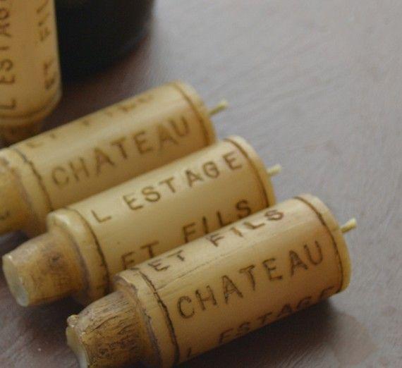 Candele di sughero del vino di GlowliteCandles su Etsy