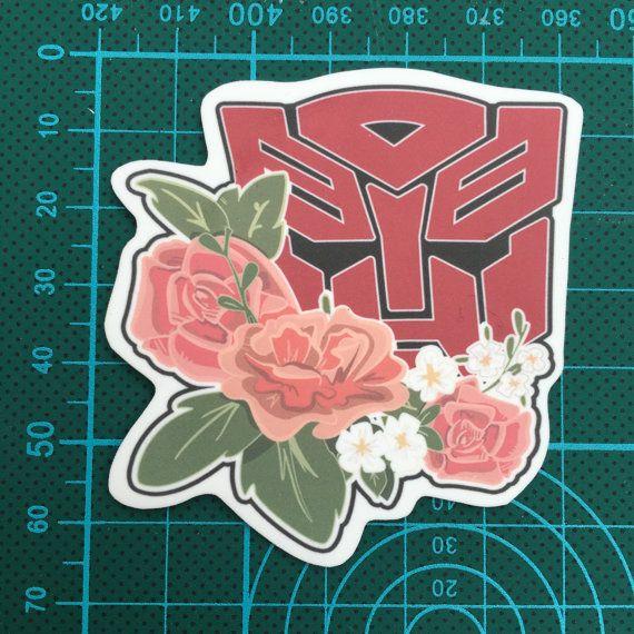 Autobot und Decepticon Floral Transformatoren-Logo