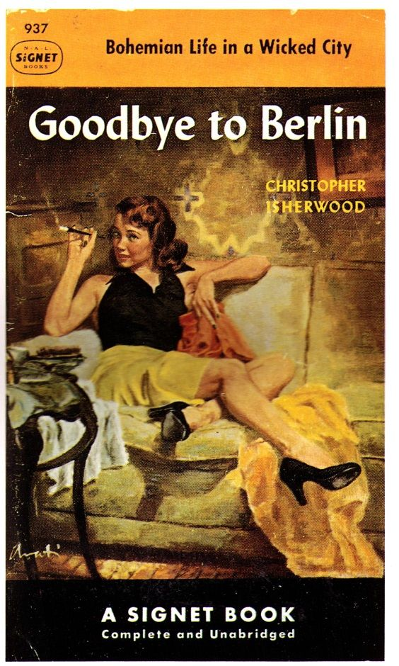 best james avati pulp fiction covers images  goodbye to berlin signet paperback art by james avati pulp