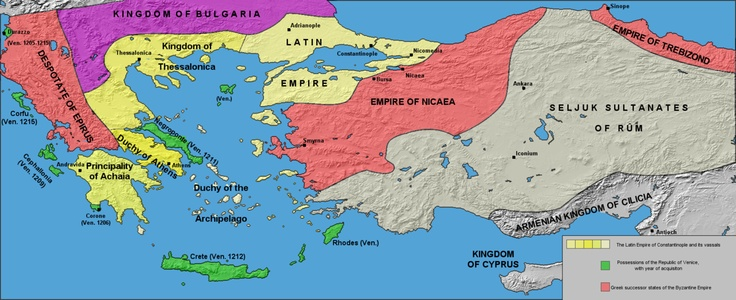 The Byzantine world after the 4th Crusade; the creation of the three byzantine-Greek successor states came as a counterbalance to the creation of the Latin Empire and its Vassals. The already disintegrating byzantine world was in need of a change before the strike of the 4th crusade.Of course this strike was a violent one; but the competition between the byzantine-Greek identity of the 3 successor states of Nicaea, Trebizond and Epiros to the Latin Cristian, Bulgarian/Serbian Orthodox or…