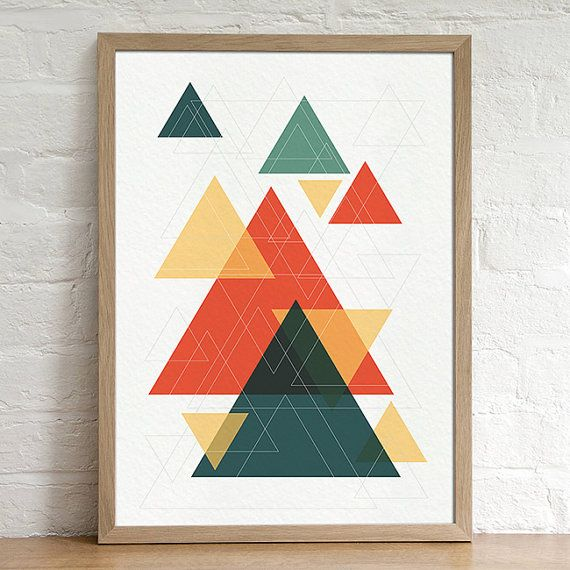 Triangles Geometric Abstract Minimal Digital by lakeandart