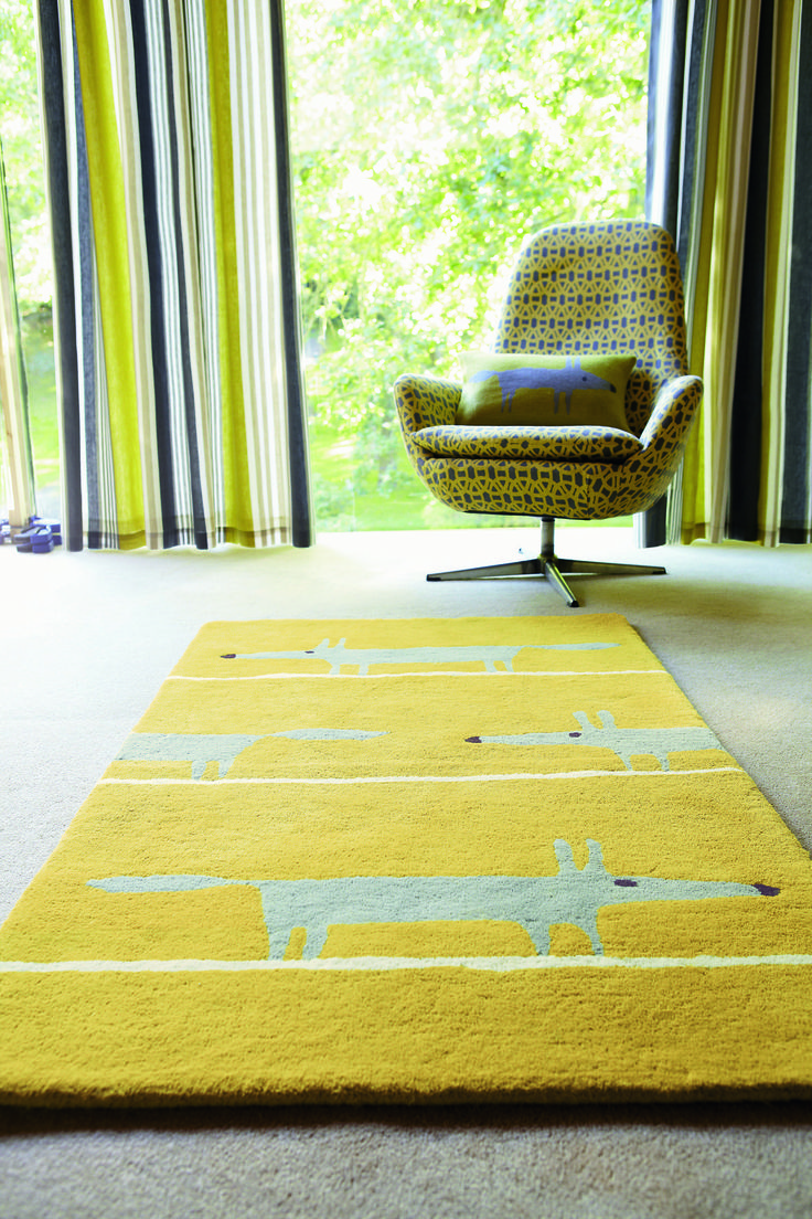 Scion Mr Fox Rugs 25306 Mustard Online From The Rug Er Uk