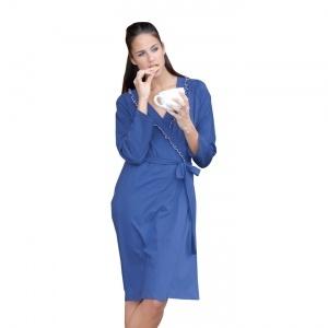 Elegante vestaglia donna in cotone 100% .    Creazione e Produzione interamente Made in Italy Autentico.
