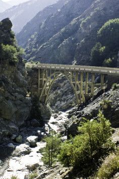 Bridge to Nowhere - San Gabriel Mountains - The Bridge to Nowhere is an arch bridge that was built in 1936 north of Azusa, California in the San Gabriel Mountains. It spans the East Fork of the San Gabriel River and was meant to be part of a road connecting theSan Gabriel Valley with Wrightwood.