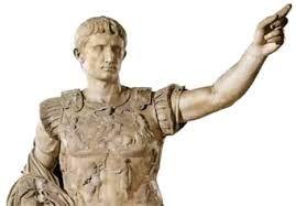 Nacido bajo el nombre de Cayo Octavio Turino, fue adoptado por su tío abuelo Julio César en su testamento, en el año 44 a. C. Desde ese instante hasta 27 a. C. pasó a llamarse Cayo Julio César