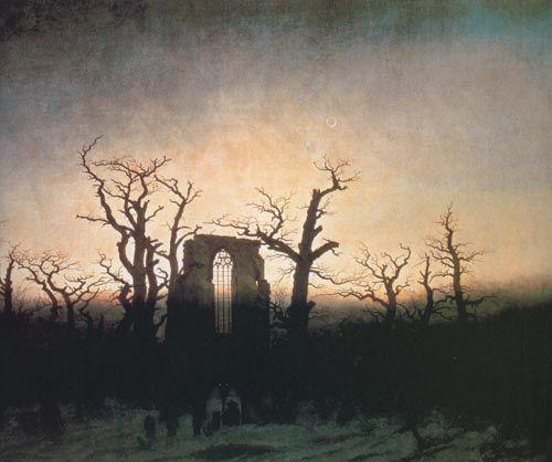 Каспар Давид Фридрих. Аббатство в дубовом лесу