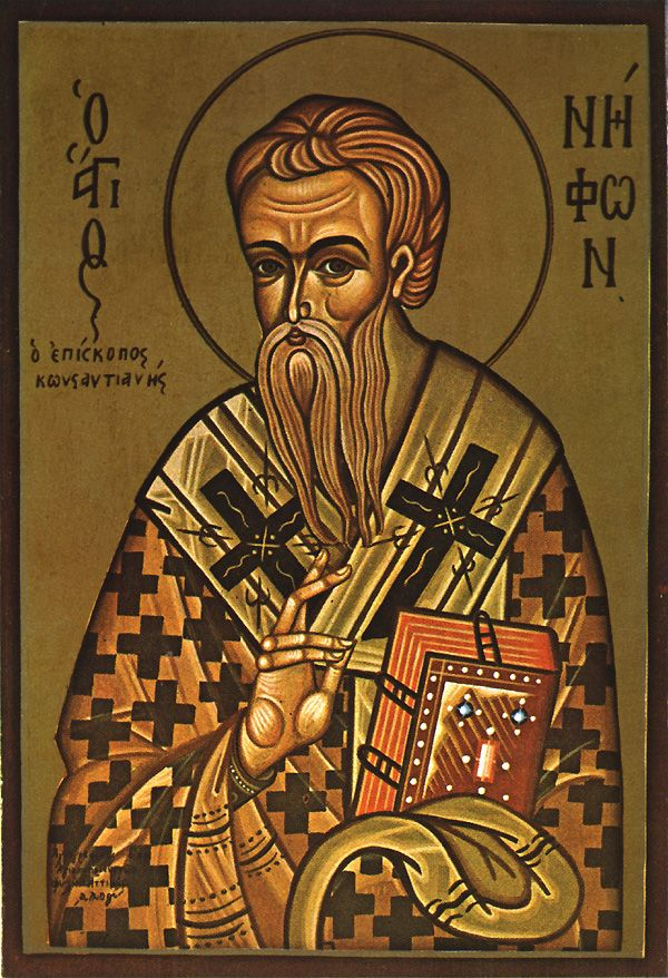Ascetic Niphon, Bishop of Constantia, Cyprus - December 23