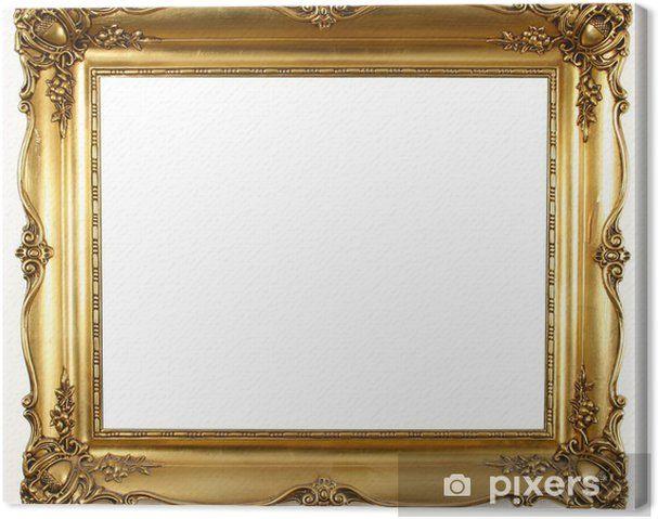 tableau sur toile ancien cadre dore