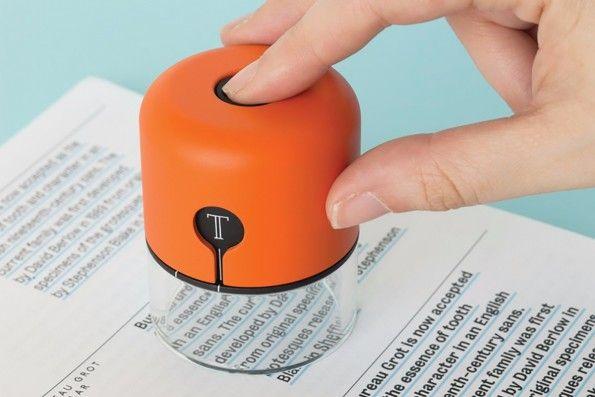 Spector: Das kleine Gerät soll Schriftarten für euch identifizieren. (Foto: Fiona O'Leary)
