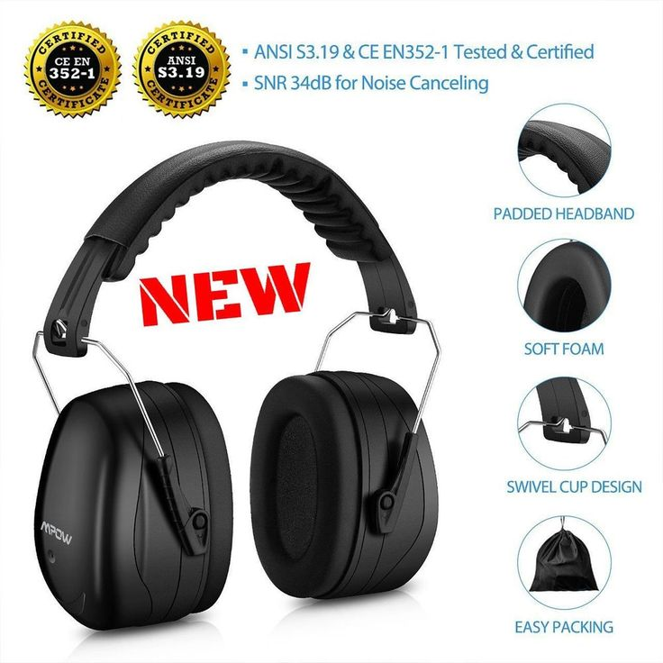 Target Shooting Ear Muffs Noise Safety Hearing Protection Range Headset Hunting