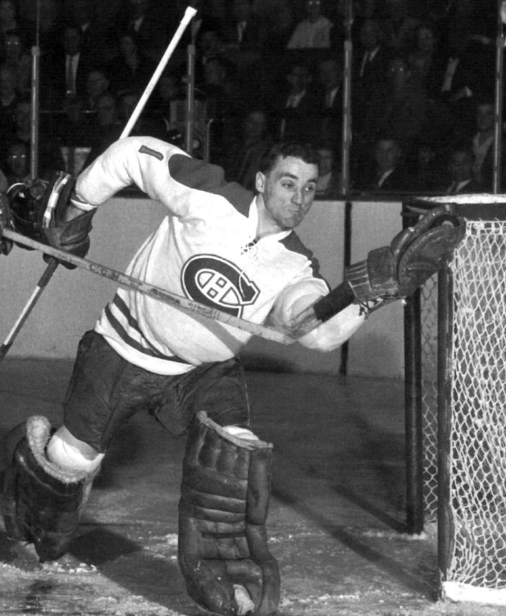 Jacques Plante, Montreal Canadiens, 1957 - Hockey Goalie