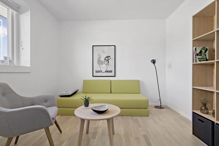 Teenageværelset i eurodan-huset. Udstillingshus i Viby Sjælland.