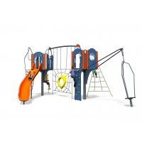 Atlanta Plus: Two towers packed with challenging activities to entertain children, from a spinner to spider's web; they'll love the awesome Atlanta Plus! https://www.playdale.co.uk/playground/junior-play/big-city-plus/atlanta-plus.html