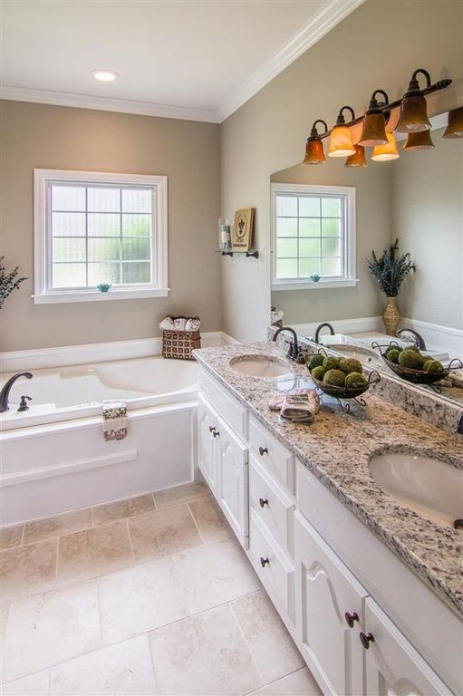 Traditional Master Bathroom With Crown Molding Amp Master