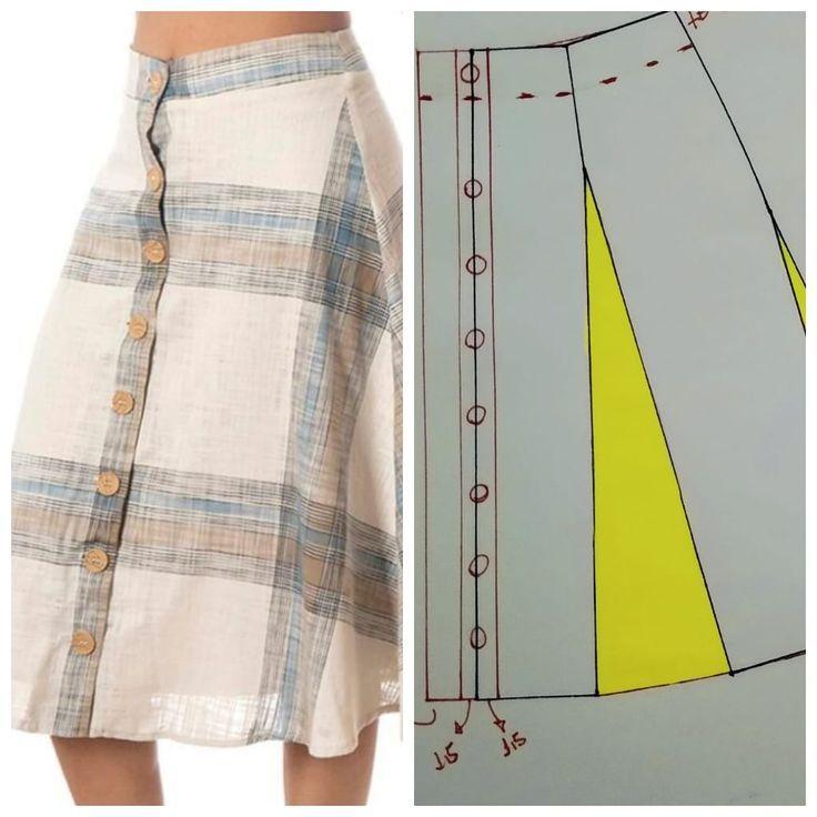 Olá pessoal, tudo de bom? A dica de hoje é uma saia larga com botões. Para F …   – Design