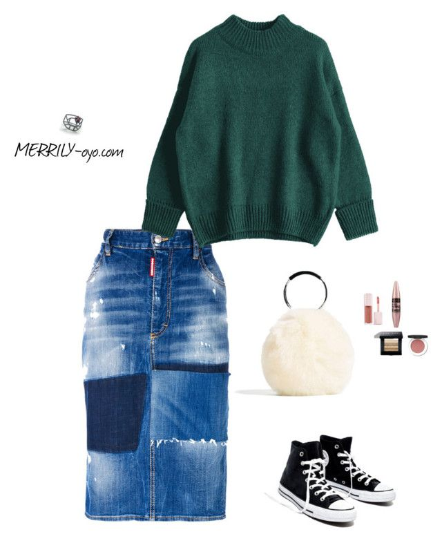 fashion by yumiko-merrily on Polyvore featuring ファッション, Dsquared2, Madewell, Bobbi Brown Cosmetics, Maybelline, Puma and Caso