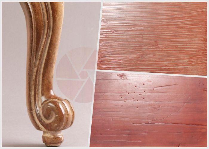 Există materiale și tehnici cu care se obțin efecte speciale pe lemn. Patinele colorate sau metalizate, efectul de marmură, sunt doar câteva dintre ele.