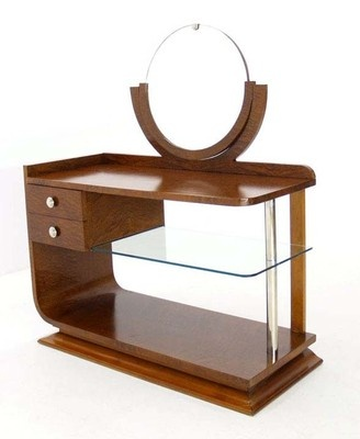 Art Deco c.1940's Tiger Maple Vanity Dressing Table (words cannot articulate how much I wanna make this mine!)