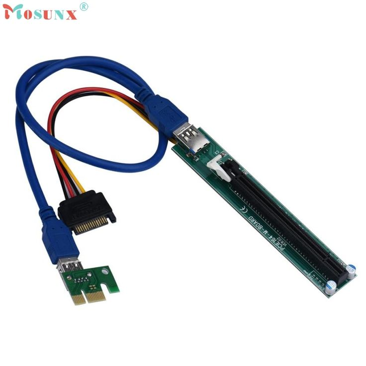 Adroit 2016 New PCI-E Express 1X To 16X Extender Riser Adapter Card With Molex 60CM USB Cable JUL21 drop shipping