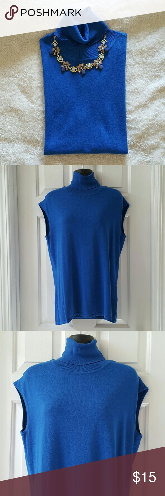 Eva Mendes Sleeveless Turtleneck Top Eva Mendes for NY&CO Sleeveless Turtleneck Top. Excellent condition. Length from shoulder to hem is approx 27 inches. (Necklace not included) New York & Company Tops