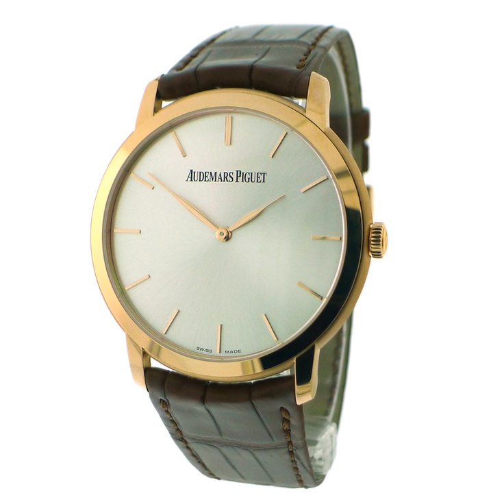 AUDEMARS PIGUET Rose Gold Jules Audemars Extra-Thin Wristwatch