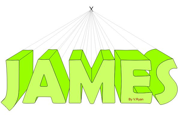 How to Draw Your name with a One Point Perspective in INTRO TO ART Forum