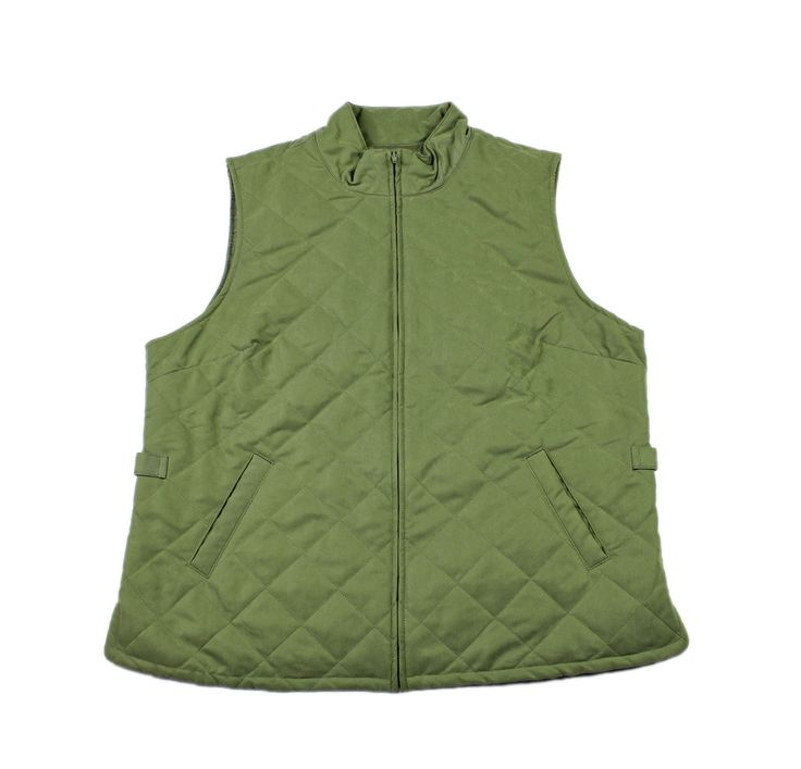 #Vintage #Orvis Green Quilted Vest #Mens Size Large #workwear #menswear