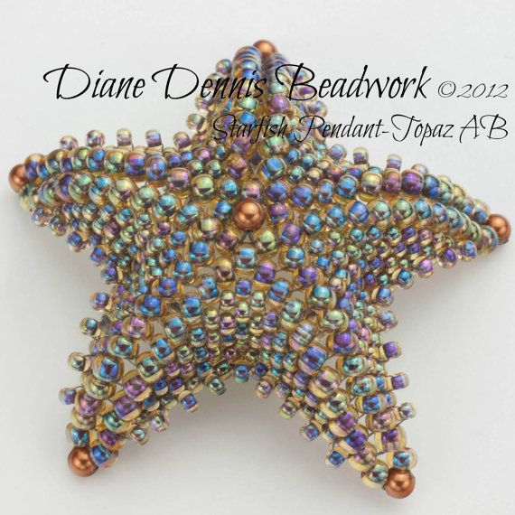 Kit+for+Starfish+Pendant++Pendant+in+Topaz+by+DianeDennisBeadwork