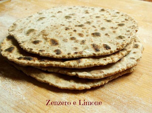 PANE PIATTO | ricetta senza lievito né olio | Zenzero e Limone