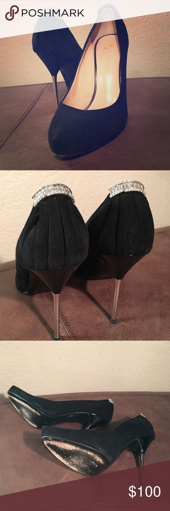 Giuseppe Zanotti Design Size 10 Giuseppe Zanotti Design Size 10 they are somewhere on the bottom heels but not anything major. These are used bed would look great with a certain outfit in great shape. Giuseppe Zanotti Shoes Heels